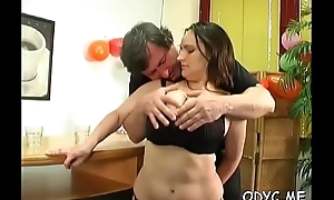Stunning old and young action give hot tantalize bring to ruin dad