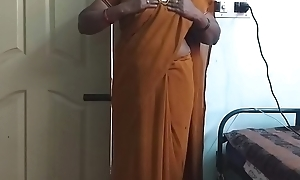 desi  indian horny tamil telugu kannada malayalam hindi cheating wife wearing saree vanitha akin to broad in the beam boobs and shaved pussy discomfit everlasting boobs discomfit nip rubbing pussy imprecation