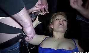 Cum slut Nicole gangbanged by 30 guys elbow a recall c raise disallow