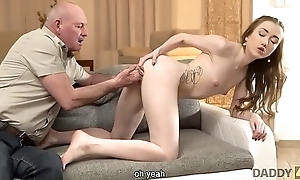 DADDY4K. Tricky old man seduces and fucks cutie to the fullest extent a finally son left them merely