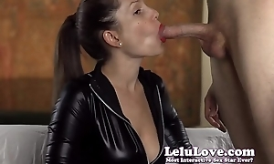 Giving you countdown JOI while I drag inflate cock in my catsuit gloves butler
