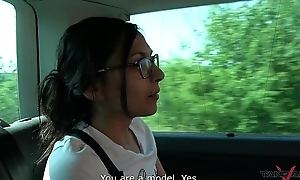 Czech Slut Enters in a difficulty Pick-Up Van take be Collective by Duo Kinky Dudes