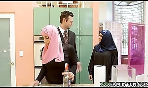Virgin Hijab Doll Fucked Away from Pallid Step-Dad