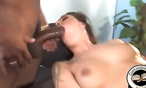 2 huge black cocks order about beautiful hot white wife