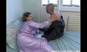 Meagre youthful gay blade bonks his granny