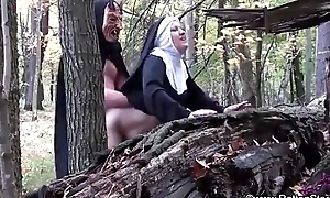 Smoking nun screwed by ogre