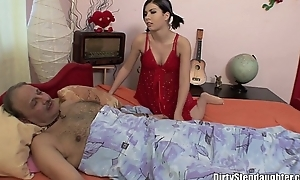 Sick stepdaddy sexually nortured by his stepdaughter