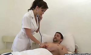 Nurse takes care of one patients