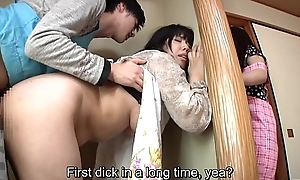 Subtitled japanese risky sex with voluptuous mo...