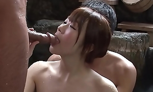 Subtitled well-shaped japanese mixed Medicine lavage troika at hand hd