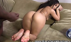 Gabriella paltrova receives dong juice pass out after interraci...