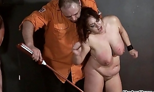 Bbw slaves electro s&m with the addition of three crying submis...
