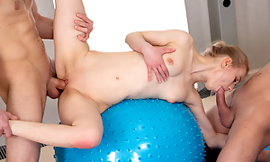 Sex party with yoga teeny