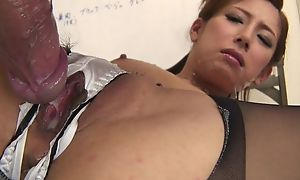 Japanese office babe gets fucked hard flick through the hole yon their way wheeze crave